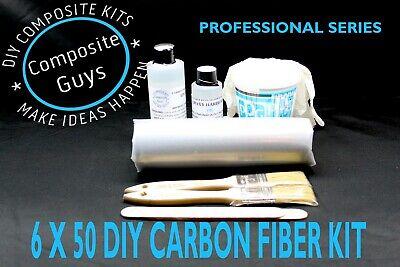 Real Carbon Fiber Fabric 6 X 50 Bicycle Repair Kit 3k 2x2 Twill
