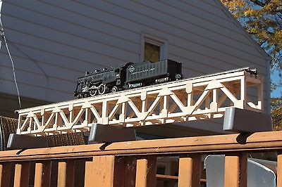 "S Gauge handmade wood trestle bridge 36"" long for American Flyer etc.."