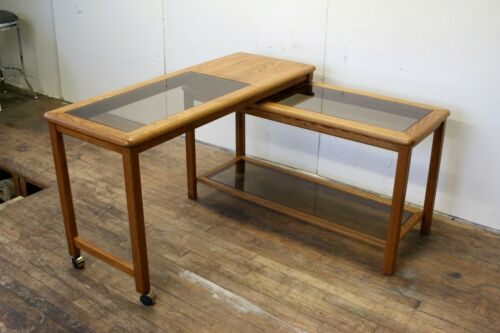 Expandable Mid-Century Console Sofa Table Attr. To Lou Hodges