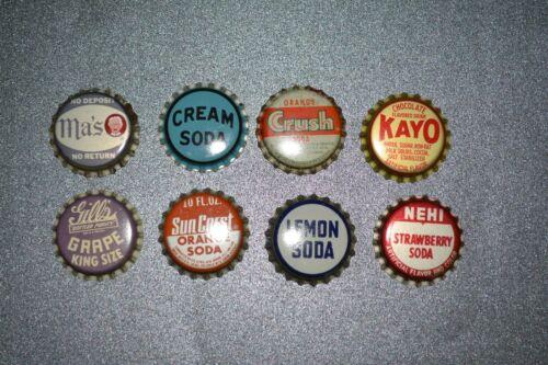 Eight Cork Lined Bottle Caps