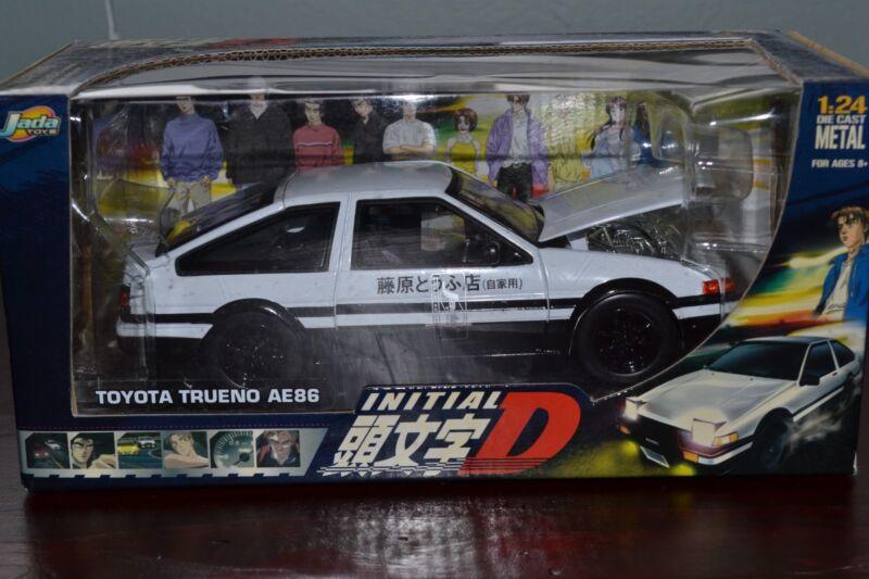 Initial D JADA TOYS 1/24  WHITE TOYOTA TRUENO AE86 - NEW Sealed in Box
