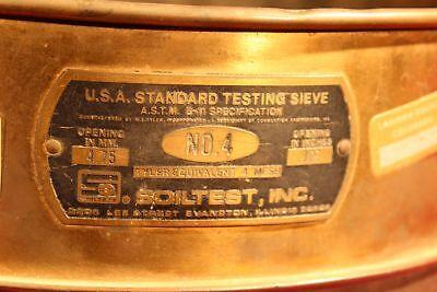 U.s.a Standard 12 Test Sieve A.s.t.m.e. 4.75mm.187 Soiltest 10