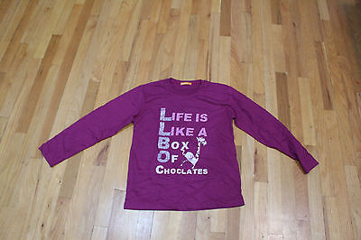 LIFE IS LIKE A BOX OF CHOCOLATES L/S TOP SIZE L  BURGUNDY  (Is Burgundy Purple)