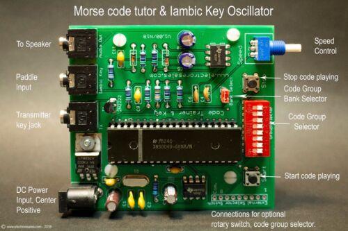 Morse Code CW Ham Radio Trainer & Oscillator Learn Morse reception and sending