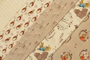 100-COTTON-PRINT-FABRIC-BEATRIX-POTTER-PETER-RABBIT