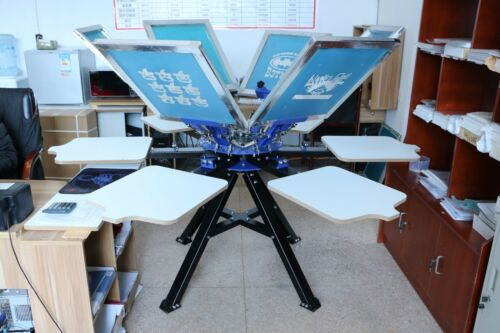 Techtongda 6 Color 6 Station Silk Screen Printing Press Machine Screen Printer