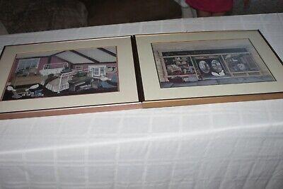 2 Large Pat Richter Framed Prints