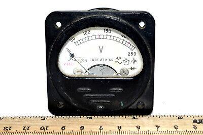 Vintage Analog Device Bakelite Panel Voltmeter C24 Ac 0-250v Russian Soviet 1966