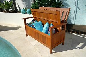 Timber Storage Box/Bench: NEW DESIGN Outdoor Storage Bench. Buy Now Super Sale!
