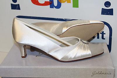 Gold Satin Schuhe (GOLDMARIE GRACE BRAUTSCHUHE HOCHZEITSSCHUHE ABENDSCHUHE SATIN Gr 38 Neu)