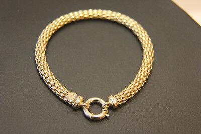 Gold Schlange Armband (Armband 585 14K ECHT GOLD 21cm Geschenk Gelbgold Schlange Schmuck Damen Armkette)