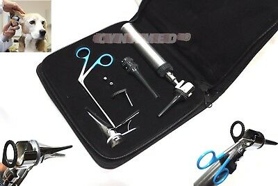 Incredible Professional Veterinary Diagnostic Otoscope Set Kit 2 Free Led Bulb