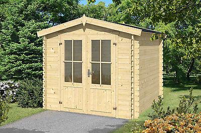 Gartenhaus ca. 250x250 cm Gerätehaus Blockhaus Schuppen Qualität Holz 28 mm