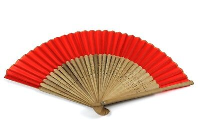 Spanish Style Red Hand Held Fan Fancy Dress Summer Cooling Burlesque Wedding NEW