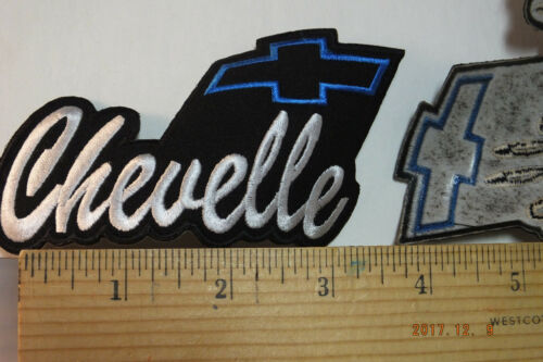 """Chevy Chevelle Embroidered Iron-on Patch 4""""x2.5"""""""""""