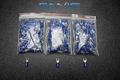 150 Pk 14-16 Gauge Vinyl Spade Connectors 50 Pcs Each 6 8 10 Terminal Fork