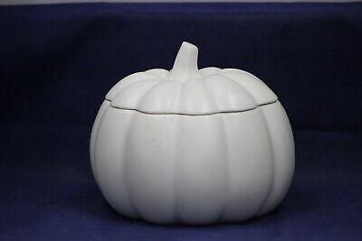 Ceramic White pumpkin cookie jar