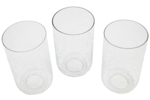 Seeded Bubble Glass shade, 3 Pack Cylinder for Light Fixture Imperfection As Is