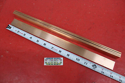 5 Pieces 18 X 1 C110 Copper Bar 14 Long Solid Flat Mill Bus Bar Stock H02