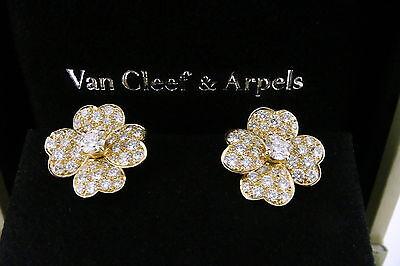 Van Cleef & Arpels VCA 18K Yellow Gold & 2.2ct tw Diamond COSMOS Earclips