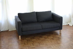 loveseat sofa couch ottoman ikea karlstad with sivik dark. Black Bedroom Furniture Sets. Home Design Ideas