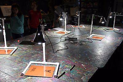 LIGHT KIT DIY Silk Screen Printing w/ 2 Bulbs (expose Emulsion on Mesh Sheets)](Silk Screening Kit)