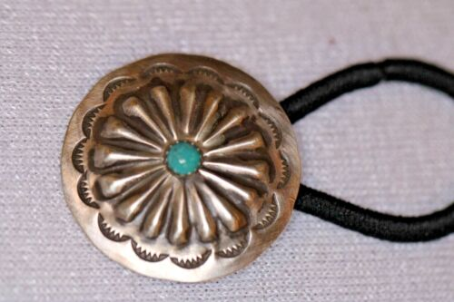 Sterling Silver with Turquoise Center Stone Hair Accessory