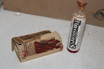 St. Jacobs Oil Paper Label Cork Bottle Chloroform Wyeth Chemical NY Rare