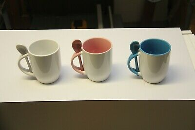 36pcs Blank Sublimation Mugs Whit Spoon Heat Press Transfer Mugs.