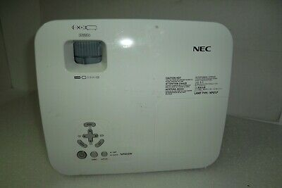 NEC NP410W Multimedia Projector Ethernet 1080i VGA DVI S-Video Total Hours=12