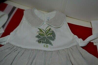 Robe baby dior 6 mois le muquet 60% de lin porte bonheur