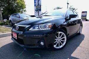 2013 Lexus CT 200h 4DR FWD HYBRID MOONROOF, PREMIUM PACKAGE LOW