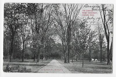The Campus, Miami University, Oxford, Ohio Postcard
