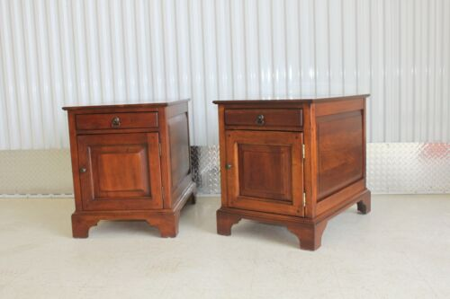 Pair Bob Timberlake Lexington Solid Cherry End Tables / Cabinets
