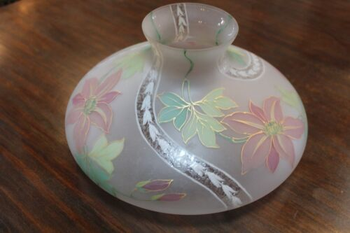 """ANTIQUE  13"""" GLASS HANDEL SHADE SIGNED AND NUMBERED"""