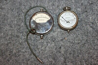 Vintage Antique Car Truck Rosco Volt Meter Eveready Amperes 1910
