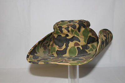 VIETNAM WAR ORIGINAL US ARMY ADVISOR BEO GAM CAMO COWBOY BOONIE HAT WITH SKULL