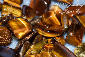 Tumbled Gemstone Natural Crystal Tiger's Eye Birthstone of Gemini May Jun