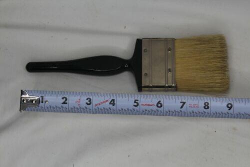 """Vintage 2.5"""" X 9"""" Black Beauty Pure Bristles Paint Brush Wood Handle Linzer"""