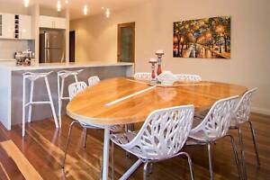 Custom Made Dining Table with 7 Chairs