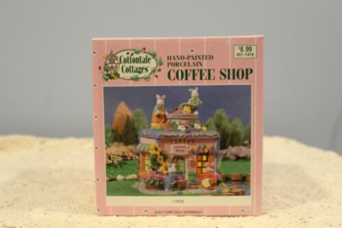Vintage Cottontale Cottages Hand Painted Porcelain Coffee Shop with Box