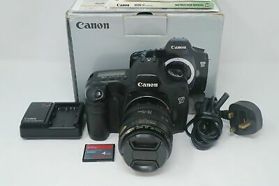 Canon EOS 5D 12.8MP Full Frame DSLR Camera with 28-70mm Lens, Very Good Cond