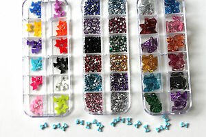 NAIL-ART-MIX-3000-RHINESTONE-GEMS-BOWS