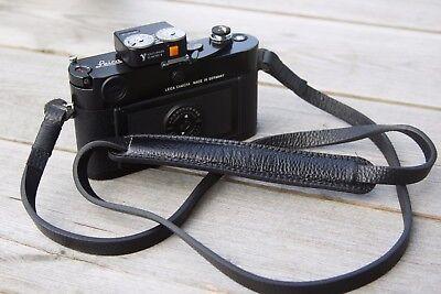 Leather Camera Strap - Black