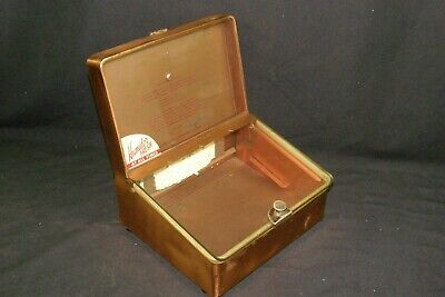 Antique Early 1900's Copper Cigar Store Counter Top Display Case Humidor