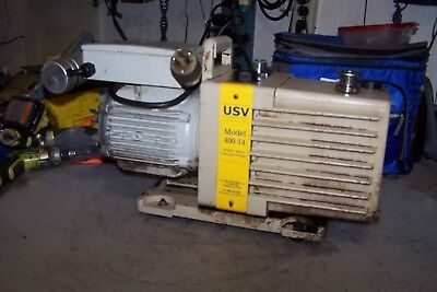 U.s. Valve Two Stage Rotary Vane Vacuum Pump 115208-230 Vac 1 Hp 1 Phase 400-14