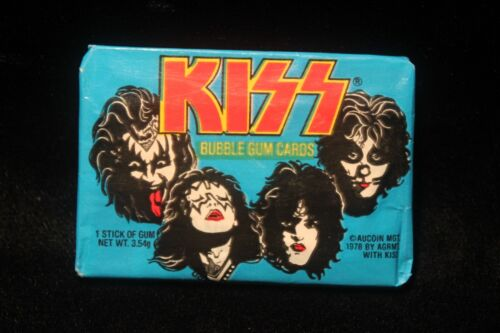 Vintage KISS Wax Pack 1st Series 1978 UNOPENED Donruss Gene Simmons EXCELLENT