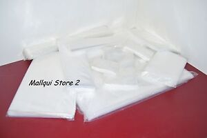 100 CLEAR 9 x 11 POLY BAGS 2 MIL PLASTIC FLAT OPEN TOP