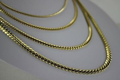 "14K SOLID Yellow Gold Miami Cuban Link Chain Necklace Everyone 2.5mm 5mm 18""-30"""