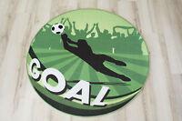 Fútbol Alfombra Niños Alfombra De Juego Goal Verde 100cm Rendondo -  - ebay.es